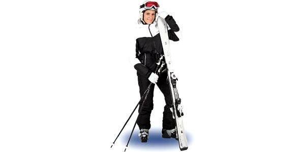 Dámské lyžařské kalhoty - Hannah EYDRIEN černá 343