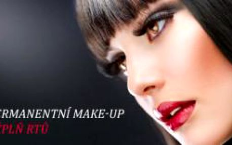 Permanentní make-up výplň rtů na klinice To Well. ...