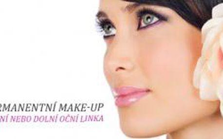 Permanentní make-up horní nebo dolní oční linka na...