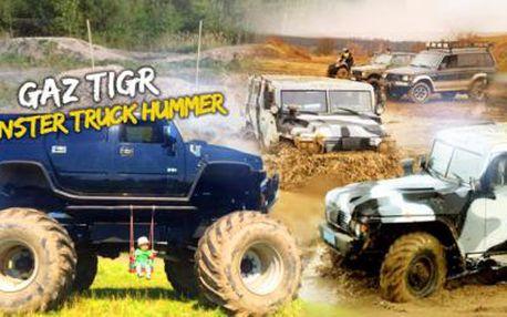 Monster Truck Hummer a GAZ Tigr na největším tankodromu v ČR! 30 minut adrenalinové jízdy za super cenu!