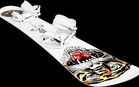 Freestylový snowboard s vázáním Ed Hardy Tiger