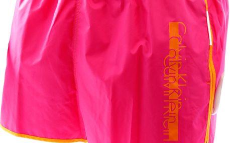 Pánské plavkové šortky krátké 58283W4-růžové - Calvin Klein Barva: růžova, Velikost: L