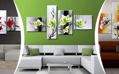 4dílný ručně malovaný obraz – oživte svůj interiér!