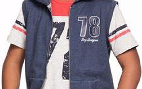 Dětská teplákové bunda bez rukávů s kapucí Ellos