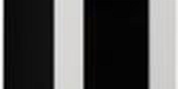 Jednodveřová vitrína s prosklenými dveřmi Vigo (korpus černá / fronty bílá VL)