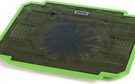 Podstavec pod notebook OMEGA ICE BOX, 14cm větrák, zelený