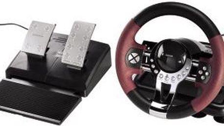 Designově povedený set herního volantu s pedály Thunder V5