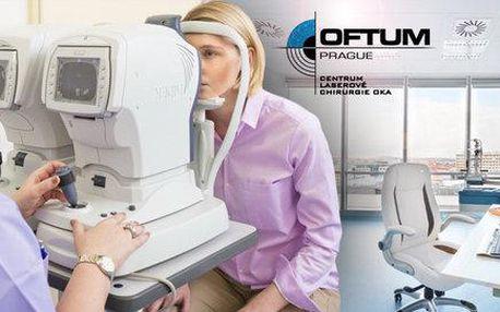 Předoperační vyšetření očí na klinice OFTUM Prague