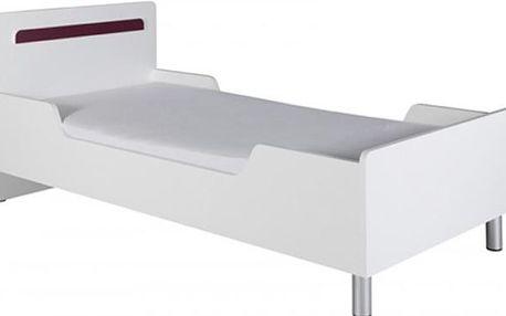 Dětská postel Nemo Reg 12 (Bílá/Fialová)