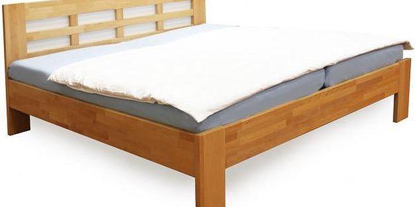 Dřevěná postel Vegas 180x200 cm