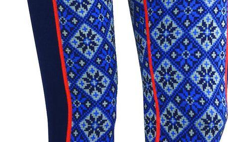 Dámské dlouhé podvlékací kalhoty ze 100% merina v pestrých barvách Kari Traa Rose