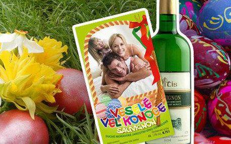 Velikonoční víno s vlastní fotografií