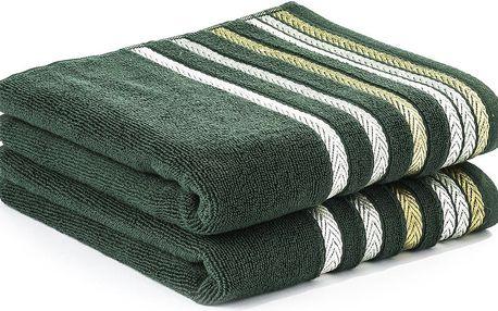 4Home ručník Bianna zelený, 50x90 cm, sada 2 ks