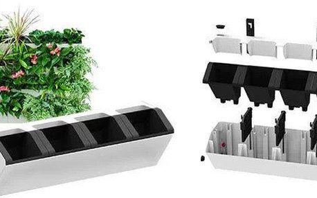 Samozavlažovací truhlík pro vertikální zahradu, černý