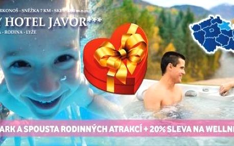 5 dní v Krkonoších s polopenzí a wellness, babyfriendly hotel +dítě zdarma