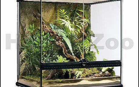 Skleněné terárium EXOTERRA 60x45x60cm (včetně pozadí)