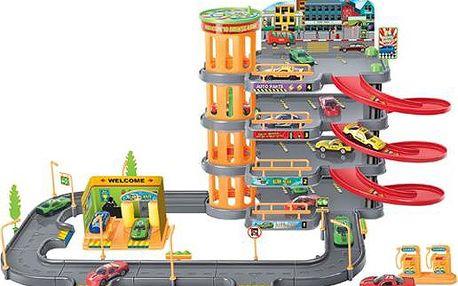 KidsHome Garáž 3 patra s dráhou a 4 auta (BF822806)