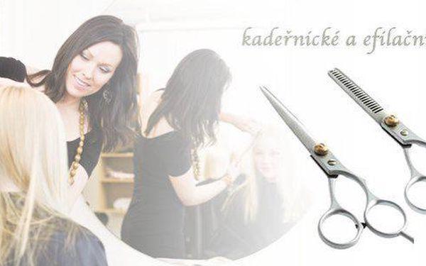Kadeřnické a efilační nůžky z chirurgické oceli pro amatérské i profesionální stříhání.2
