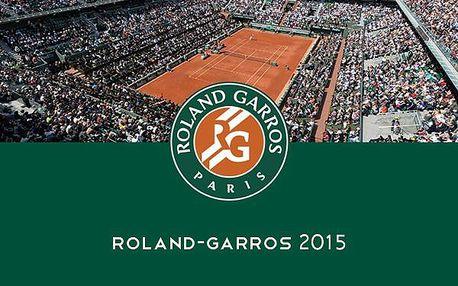 3.890 Kč za zájezd do Paříže na závěrečné dny tenisového turnaje ROLAND GARROS 5. - 8.6.2015 včetně ubytování, celodenní vstupenky a prohlídky Paříže