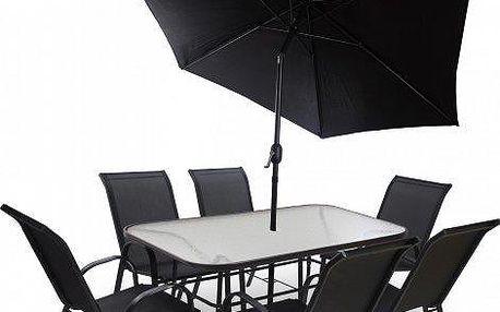 Kvalitní a cenově dostupná hliníková sestava zahradního nábytku Fieldmann KORA 6