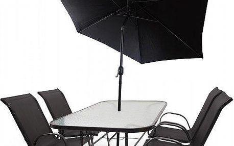 Kvalitní a cenově dostupná hliníková sestava zahradního nábytku Fieldmann KORA 4