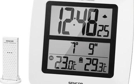 Nástěnné hodiny s teploměrem Sencor SWS 300
