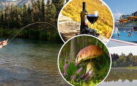 Pobyt na 3 nebo 4 dny v penzionu Najdek - polopenze, lahev vína, bazén a rybářská povolenka.