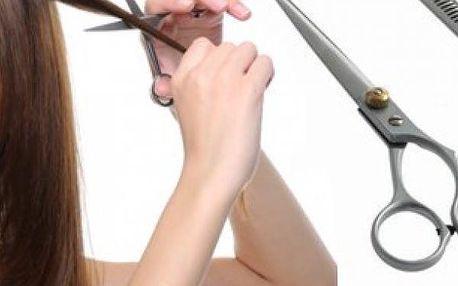 Kadeřnické nůžky z chirurgické oceli,rovné a efilační na prostříhání,pro amatérský i profi střih.