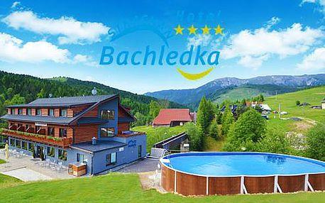 První čtyř hvězda v Belianských Tatrách - rodinná dovolená v Hotelu Bachledka**** Strachan + až 2 děti do 5 let zdarma!