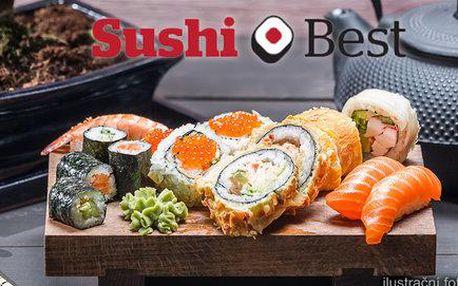 Sushi menu v restauraci Sushi Best