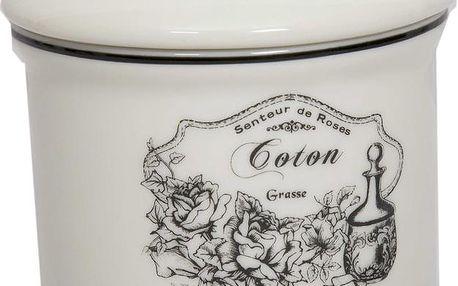 Keramická dóza na vatové tamponky Coton