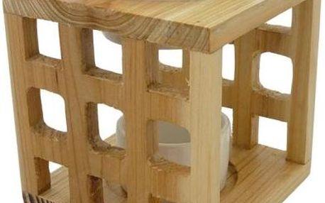 Aromalampa keramika a dřevo přírodní