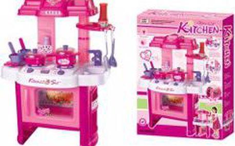 Dětská kuchyňka s příslušenstvím růžová G21 G21-690402