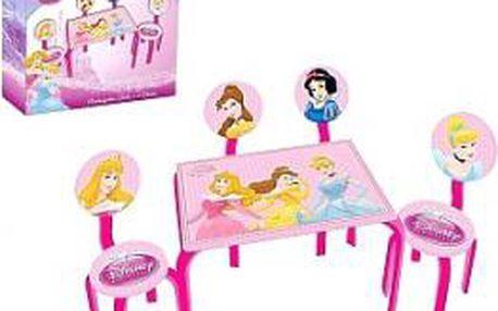Stoleček se 4 židličkami dětský PRINCEZNY Disney KAISERHOFF KO-656800220