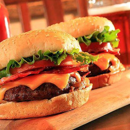 Hovězí burger v restauraci Burger Yard v Praze!