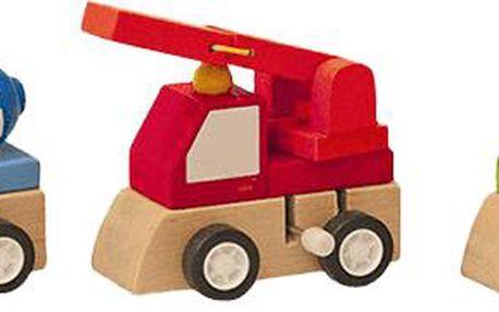 Woody Displ. 9ks - Natahovací autíčko - stavební stroje