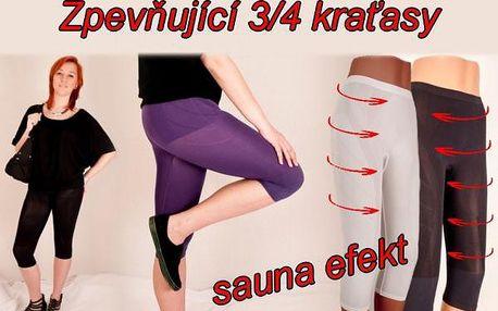 Zpevňující elastické tříčtvrťáky se sauna efektem vel. 42-46 - zeštíhlete a zformujte postavu!