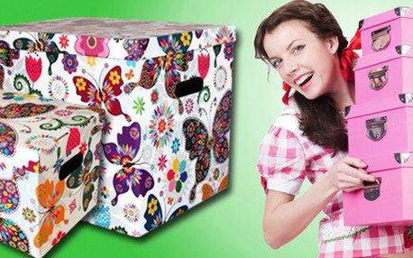 Úložné dekorativní krabice s pestrobarevným…