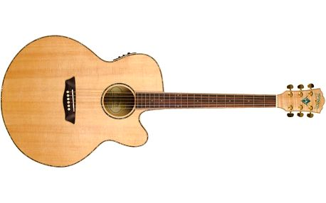 Dvanáctistrunná elektroakustická kytara Washburn WJ45SCE