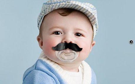 Dudlík s knírkem pro stylová miminka!