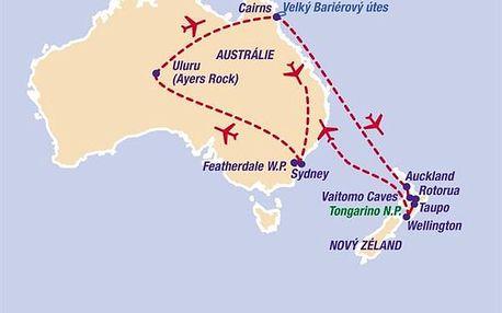 Austrálie - Nový Zéland, Austrálie (světadíl), Austrálie, letecky, strava dle programu