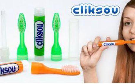 Plnící zubní kartáček CLIKSOU - praktický na cesty i na doma!