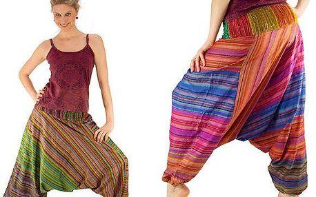 Pohodlné indické etno kalhoty na léto ze 100% bavlny