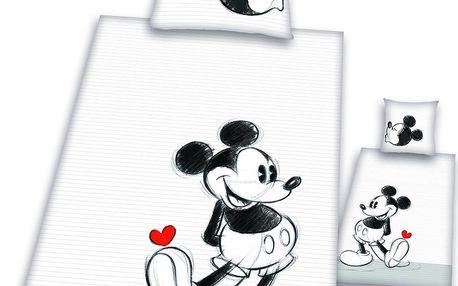 Povlečení Mickey partner červené srdíčko 140x200,70x90