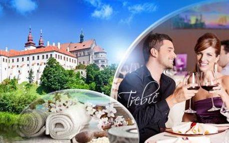 TŘEBÍČ! Až 5denní pobyt pro DVA ve 3* Hotelu Zlatý Kříž! Romantická VEČEŘE, SNÍDANĚ a WELLNESS!
