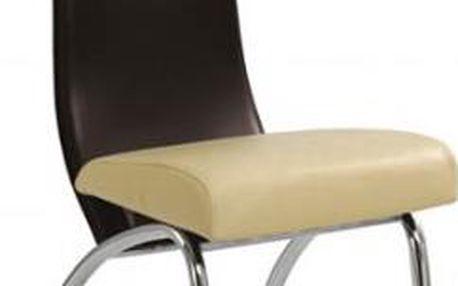 Jídelní židle K2 (béžová-hnědá)