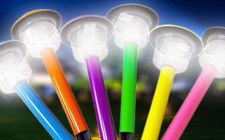 Velké veselé solární lampičky do vaší zahrady: 6 ks v balení!
