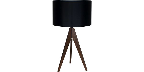 Stolní lampa Artist Black/Brown, 40x33 cm