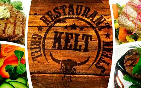 Otevřené dárkové vouchery do restaurace Kelt