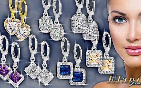 Překrásné náušnice Diamond Sparkle